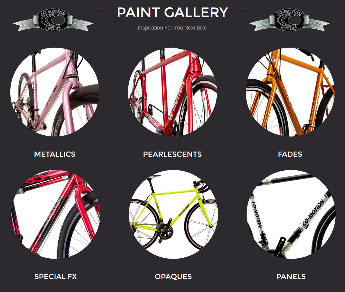 Co-Motion Cycles paint options