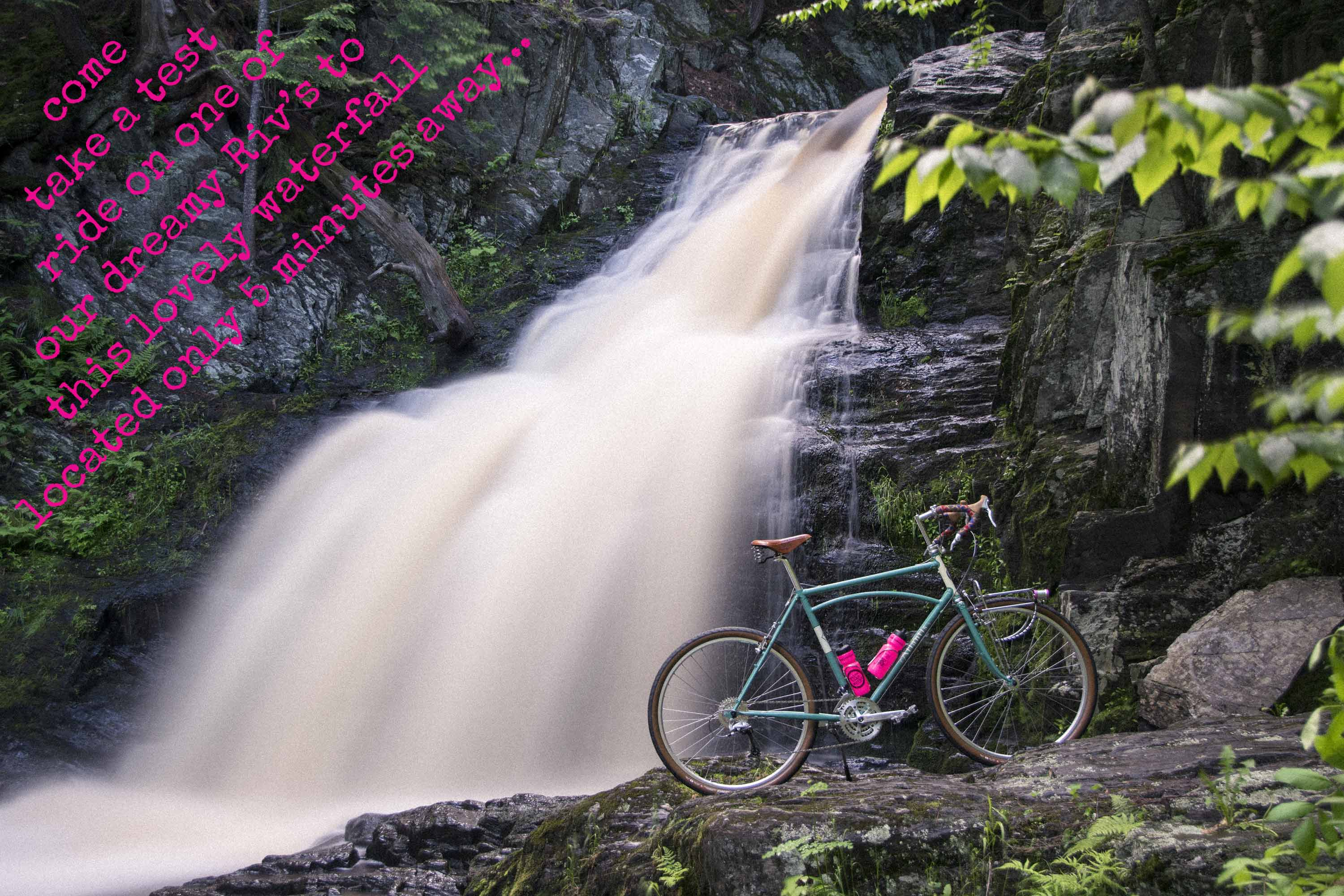 Rivendell MIT Atlantis and waterfall at Maine Bike Works